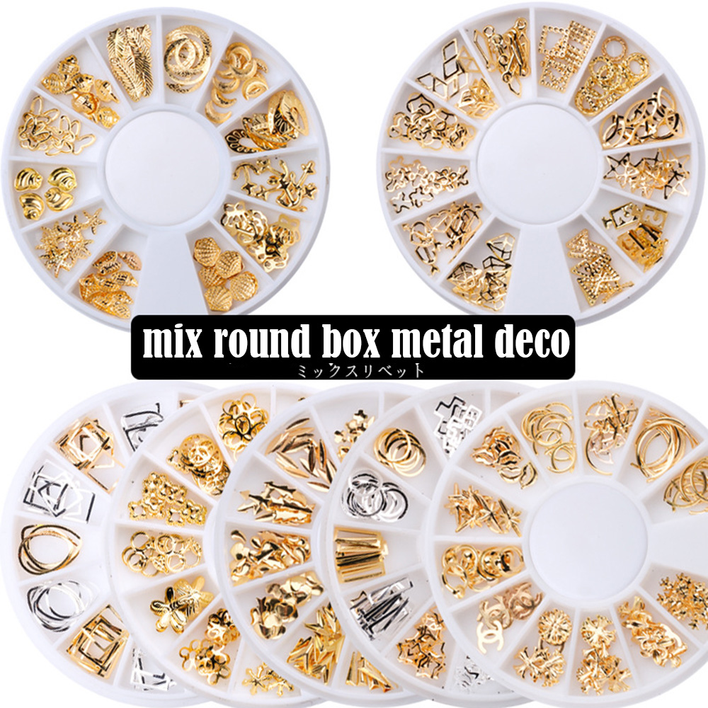 Round Box Jewelry Disc Star Moon Rivet Japanese Openwork Alloy Rivet Jewelry Cross-border Special For UV Resin Silicone Molds