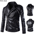New Motorcycle Leather Jacket Men Slim Fashion Black Jackets and Coats Biker Clothing M-XXL Sleeves can be removed