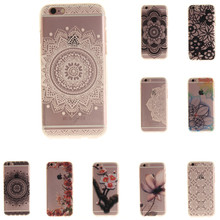For iphone 7 Case Art Print Silicon For iphone 6 Coque Soft Aztec Flowers Bohemia Back Cover Phone ipone6 Fundas Etui Accessorie