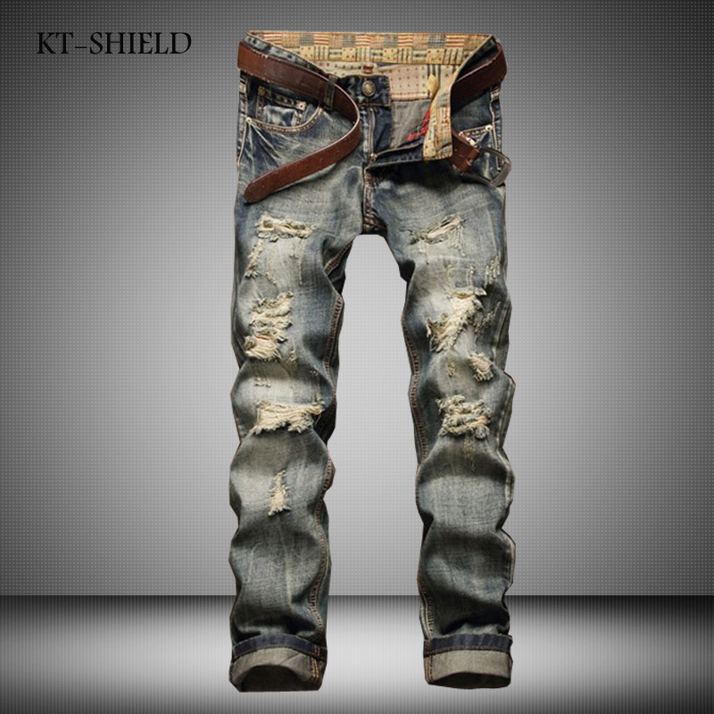 ФОТО Fashion brand men skinny jeans pants casual hip hop biker ripped Jean Homme Distressed Vaqueros Hombre Masculina Pantalones