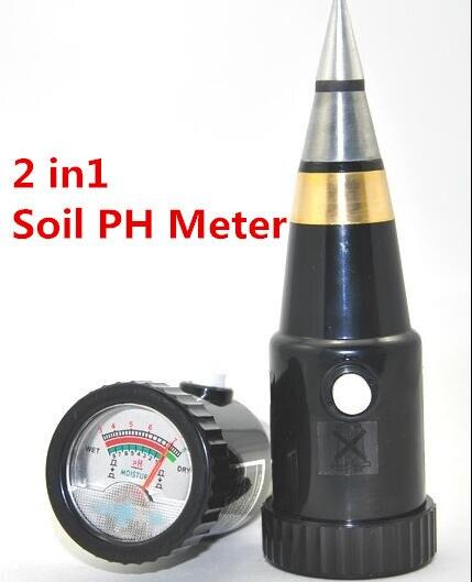 New 2 in 1 Tapered type soil Moisture mosit ph meter Hygrometer humidity Hydroponics tester for garden flowers range 3-8ph 17%  vt 05 digital ph meter for soil with ph range 3 8ph moister range 1 8
