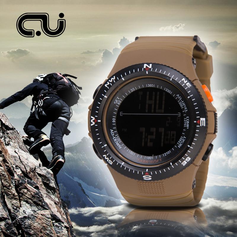 Prix pour CU 1004 Hommes Sport Montres Homme Mode Décontractée Quartz Horloge LED Numérique Étanche Montres Militaires