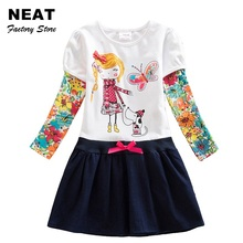 2-8Y Retail Girls Winter Dresses Girls Dresses Baby Children Tutu Dress Princess Dresses Children Wear Neat H5926 Mix