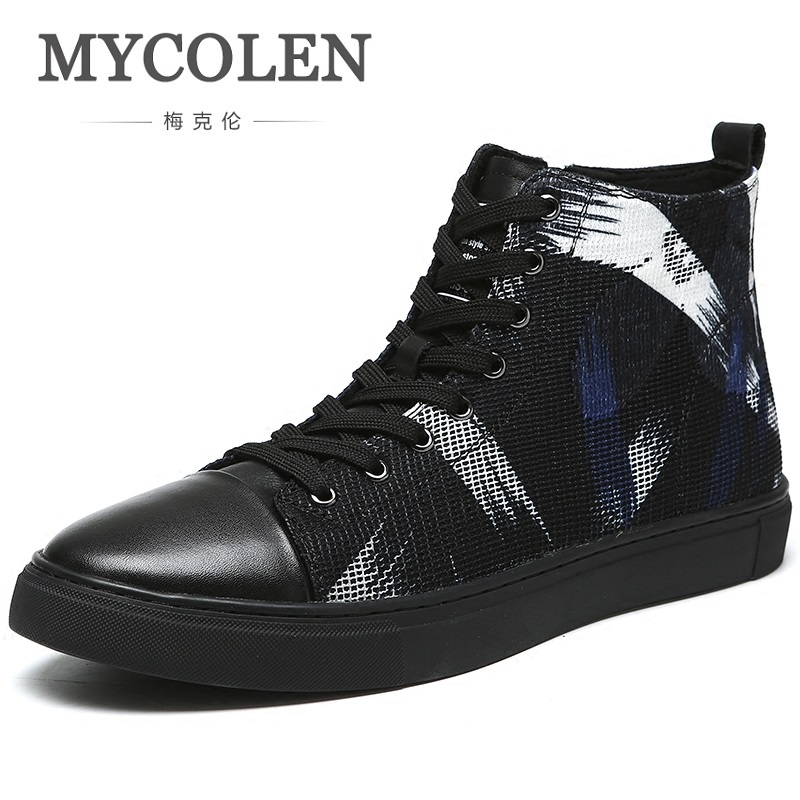 MYCOLEN British New 2018 Spring/Autumn Men's Fashion Ankle Boots Men's Elegant Trend Boots Top Quality New Brand Shoes 2018 brand new spring autumn 100