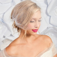 Veil Birdcage Ivory-Color Hair-Accessories Bride White Two-Lyers Veu Cheap Party Simple