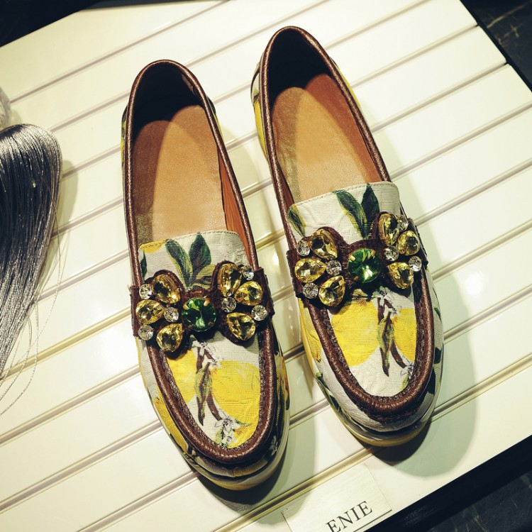 2017 New Spring Summer Shoes Woman Lazy Slip On Shallow Flat Platform Vintage Chic Crystal Women Shoes Designer Cozy Flats Tide new 2015 fashion high quality lazy shoes women colorful flat shoes women s flats womens spring summer shoes size eu35 40wsh488