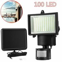 100 LED Solar Power Flood Light Sensor Motion Activated Outdoor Garden Path Lamp Lamp Covers