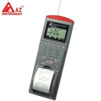 Az 9811 Портативный ИК Температура Регистраторы ИК термометр Temp регистратор с принтером