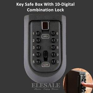 Image 1 - Duvara Monte Anahtar Güvenli Depolama Organizatör Kutusu şifreli kilit 10 Dijital Şifre Hava Koşullarına Dayanıklı Kapak Ev Dış Mekan Kullanımı Için