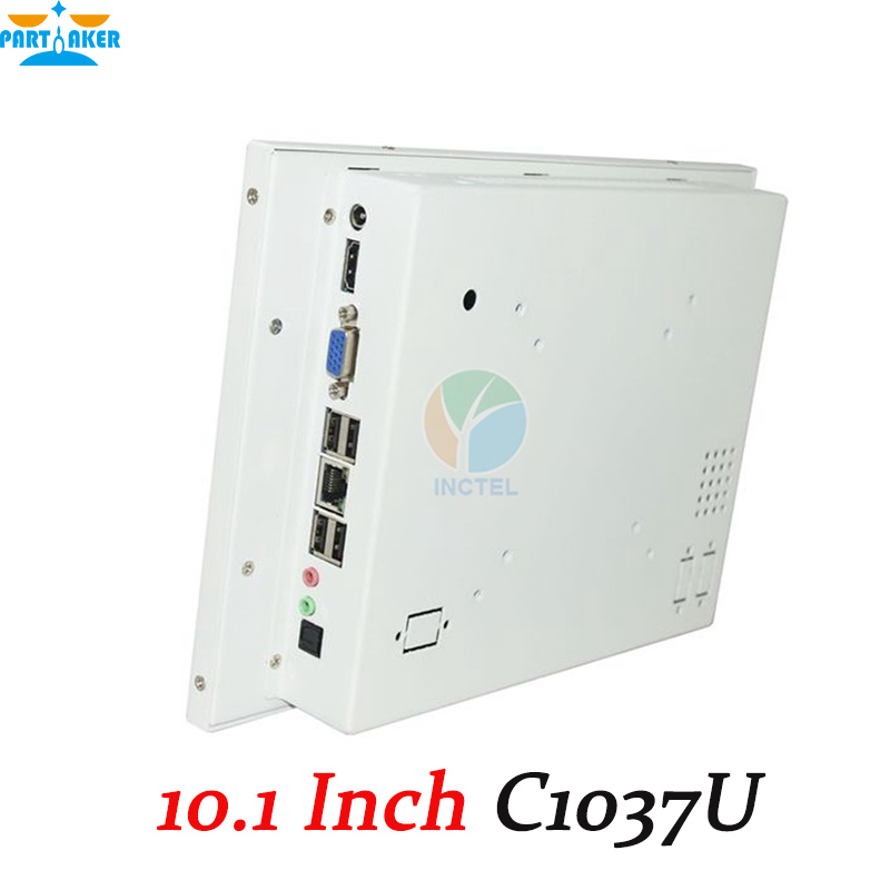 Partaker White LED computer Touch screen All in one pc with White Color 1037u processor Windows linux 4G RAM 32G SSD