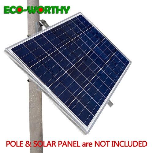ECOworthy Detachable Metal Solar Panel Mounting Bracket Set Porous triangular bracket Suitable for Walls and poles