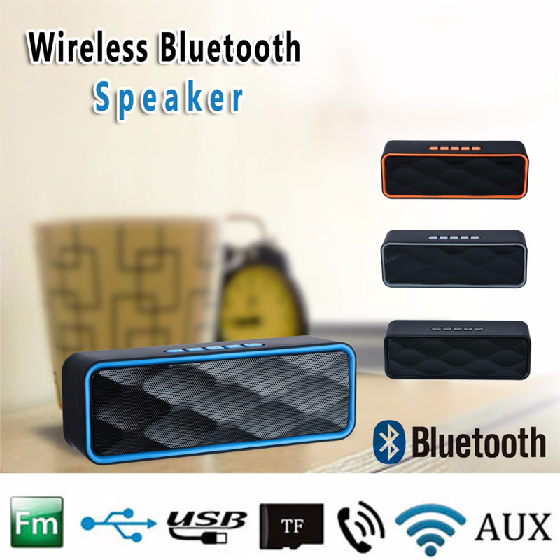 Portable Wireless Bluetooth Speaker Super Bass Outdoor Loudspeaker Support TF Card USB AUX FM