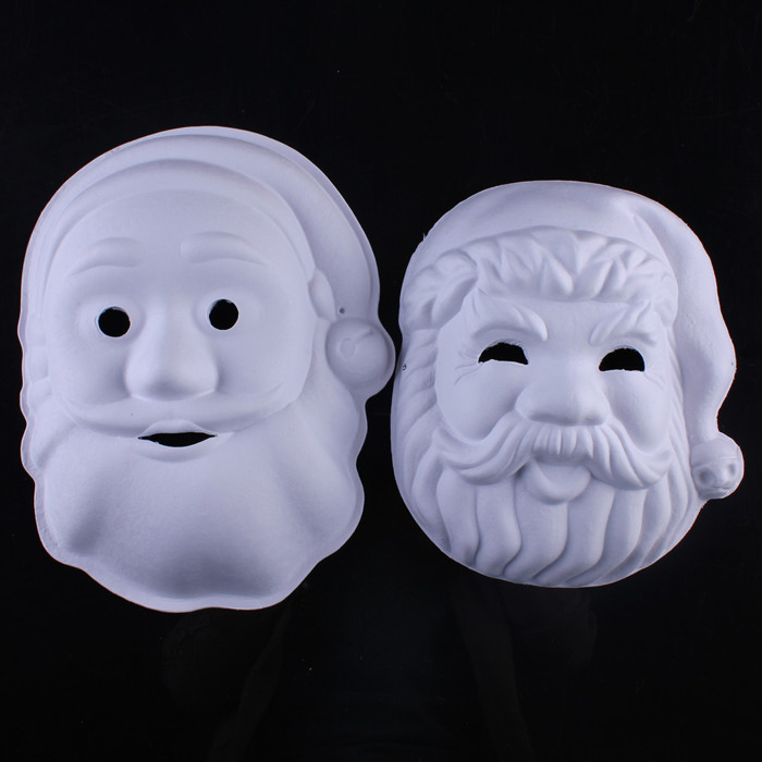ᗐboyasız Noel Baba Boş Beyaz Maskeler çevre Pulp Maskeler Diy Güzel