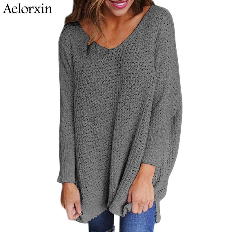 Aelorxin Spring Plus Size Loose Sweater Women 2018 Autumn Women