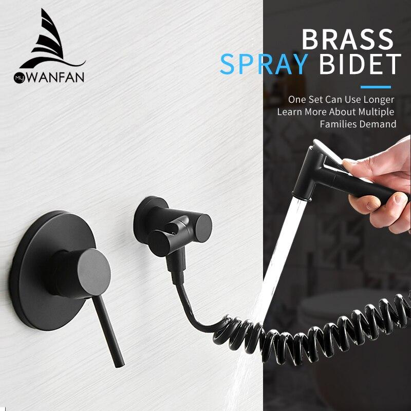 Bidets Single Cold Angle Copper Bathroom Toilet Shower Blow fed Spray Gun Nozzle Bidet Faucet Garden