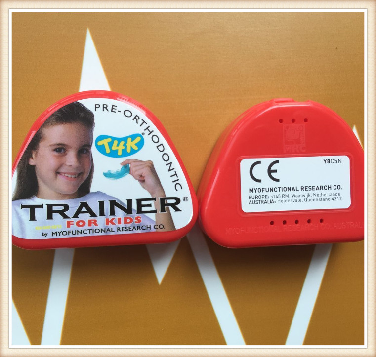 Original trainer T4K phase II red hard trainer myofunctional early mixed dentition t4k trainer phase i soft blue