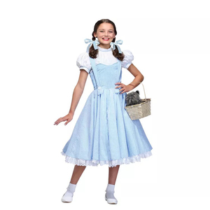 Wizard of oz Dorothy Costume Girl Dress Up Suit Kids Children Halloween Fancy Party Dorothy Princess Maid Cosplay Outfit(China)