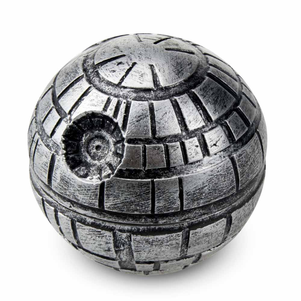 Ny ankomst 1 st Death Star Tobacco Grinder Star War Round Crusher 3 delar Spice Mill Dia. 55mm Ziny Alloy Material