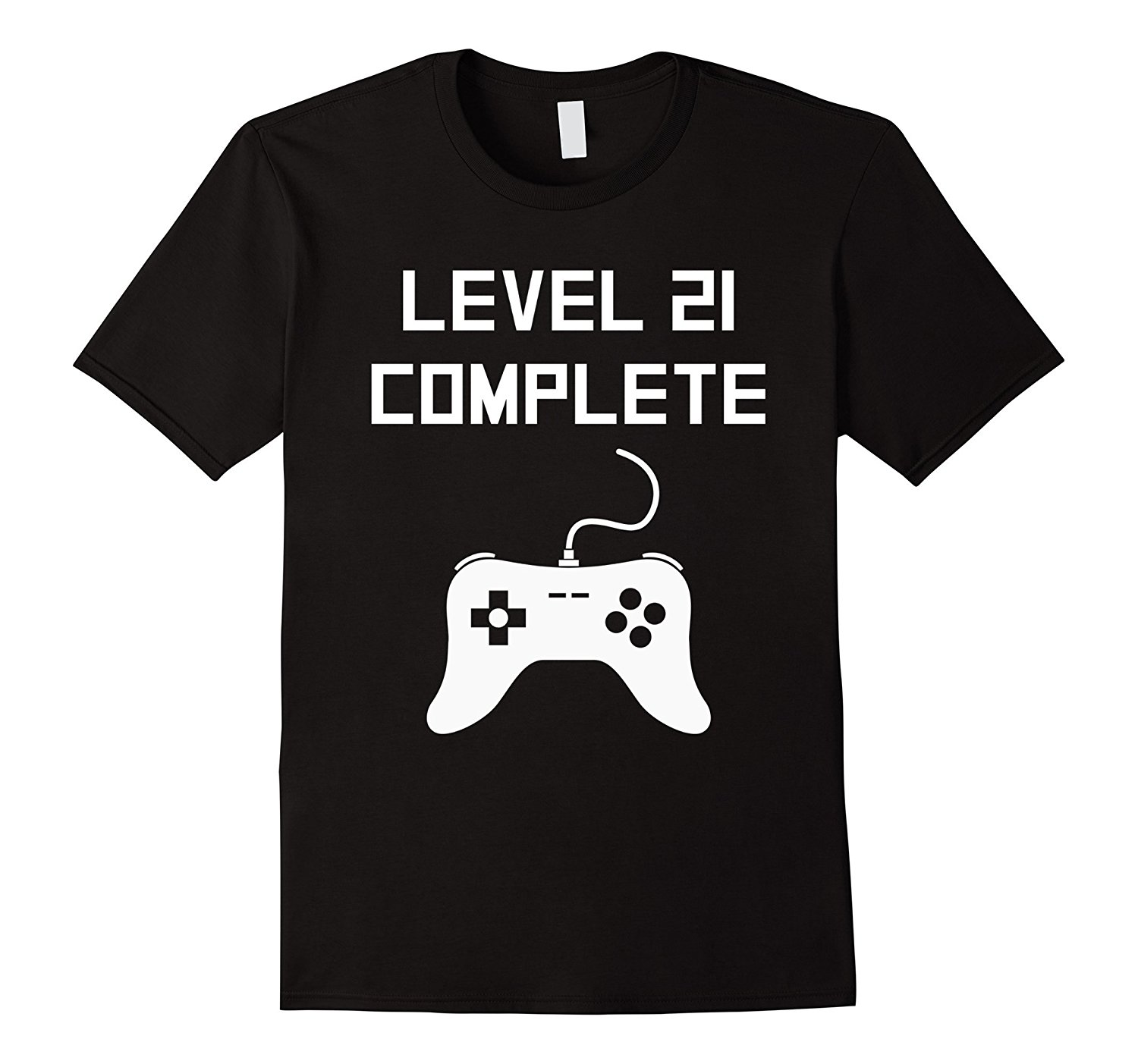 Cotton T Shirts Brand Clothing Tops Tees Level 21 Complete Funny Video Games T-Shirt letter men tees Slim cotton Tops