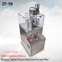 Rotary Tablet Press Machine ZP 9B Enhanced add forced filler tablet machine medicine tablet Machine+tabelt press die(max.18mm)