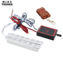 MIXC TRENDS Wireless Remote controlled 2x6LED DRL Car Emergency Strobe Light 12V Auto Flashing Warning Daytime Running Lights