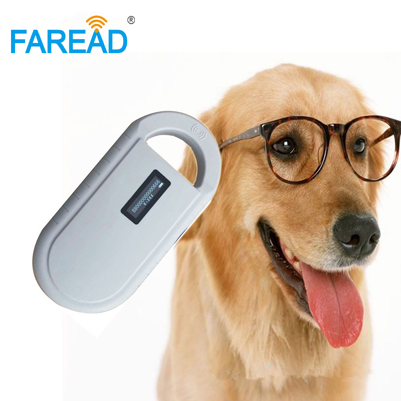 Free Shipping Universal ISO11784/5 134.2KHz FDX-B Pet Microchip Scanner Portable Chip Reader For Dog Animal Chip