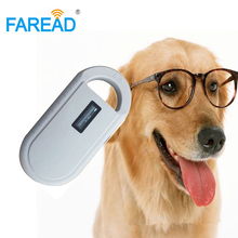 Free shipping universal ISO11784/5 134.2KHz FDX B Pet Microchip scanner Portable chip reader for dog animal chip