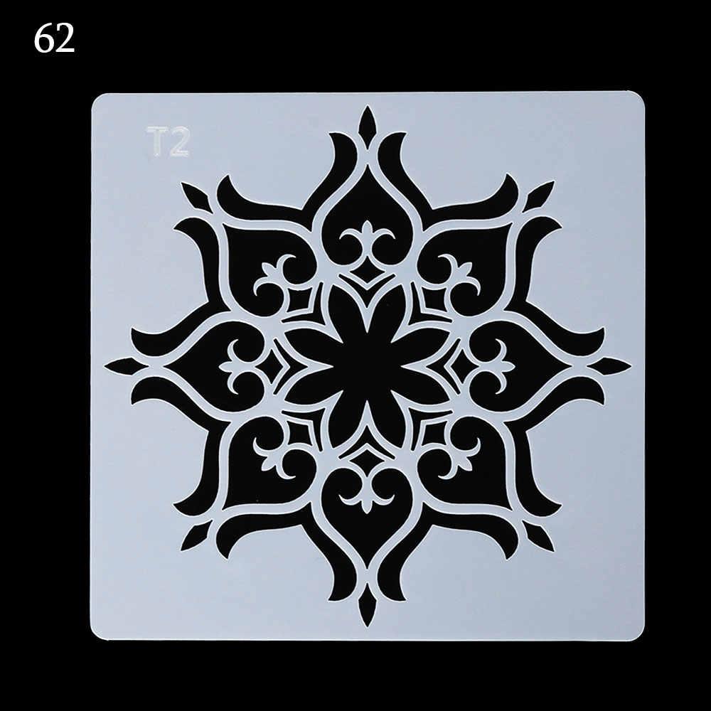 DIY Craft Mandala pomocnicze szablony do grafik ściennych malowanie stempel do scrapbookingu ozdoba do albumu szablon do wytłaczania papierowych kart #62