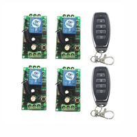 DC 9V 12V 24V Wireless Remote Control Switch 315 433 MHz Module + 1CH 4 CH Button RF Remote Control For Light and Door