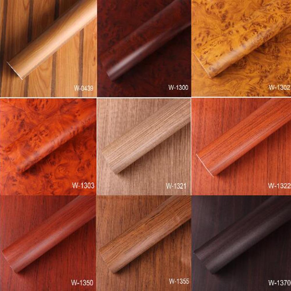 kitchen wood self adhesive PVC wallpaper films Refurbished Wardrobe clothes cupboard door desktop furniture wall stickers ...