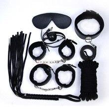 7pcs Polyurethane Leather Whip Bondage Restraints