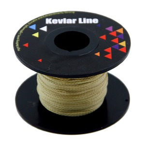 High Quality 100ft 250lb Braided Kevlar Line for Fishing Kite String Outdoor Activities Tactical Survival General Purpose
