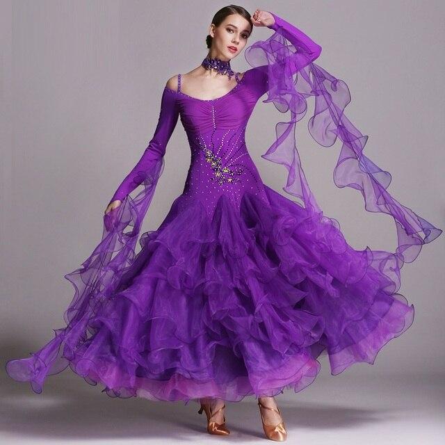 8color Exquisite Luxury Flamenco Ballroom Dance Dresses Standard Ballroom  Dancing Clothes Competition Standard Dance Dress Waltz
