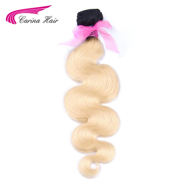 Carina T1b/613 Ombre Blonde Hair Bundles 8inch 30inch Dark Roots With #613 Body Wave Hair Weave Brazilian Remy Human Hair    by Carina Hair