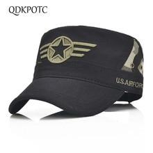 QDKPOTC Tampão Militar Estrela Vermelha Bordado Cap Chapéu Militar Do  Exército Verde Osso Plana Chapéus Das a7385965fed