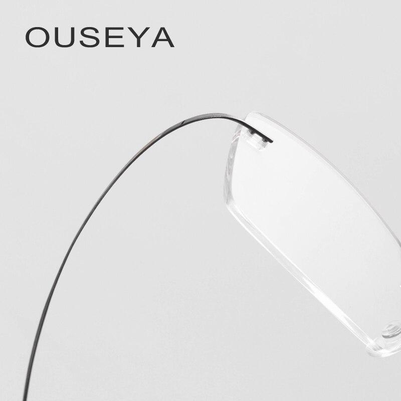 eÓtica de HONILLESI óculos Foernges,. Melhor Óculos de titânio Quadro  Homens de Negócios de Moda Sem Aro de Titânio Óculos de Armação   CT001  Barato Online ... 130281a715