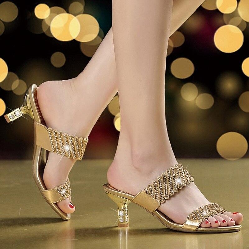 Diapositives 1 Femmes 3 Talons Nouveau Pantoufles Femme Pour D'été Hauts 2 Chaussures 8fwOwx6q