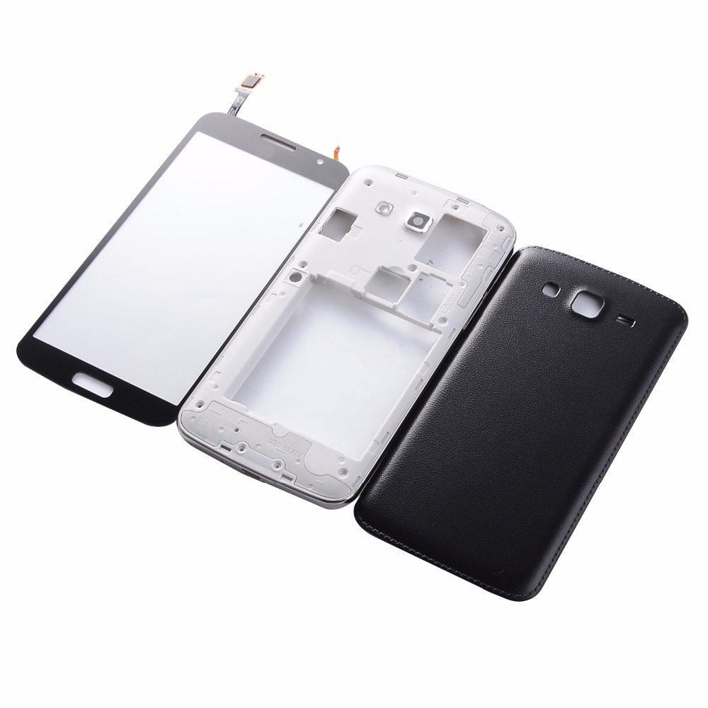 For Samsung Galaxy Grand 2 II Duos G7102 G7106 Housing Middle frame Battery Back Cover+Touch Screen Digitizer
