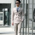 New retro man's slim bussiness suits double-breasted bridegroom suits wedding party formal dress Mens Suit (jacket+pants+ tie)