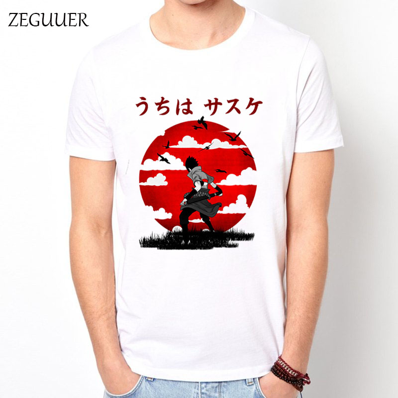 2019 Naruto Uchiha Sasuke Itachi T Shirt Japan Samurai Warrior Harajuku Streetwear Sunset Clothes T Shirt Men Boyfriend Gift
