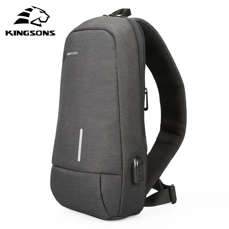 Kingsons KS3173w 10.1 inch High Quality Chest Backpack For Men Women Casual Crossbody Bag Casual Style Travel Business Backpack 2017 summer high capacity chest bag for men