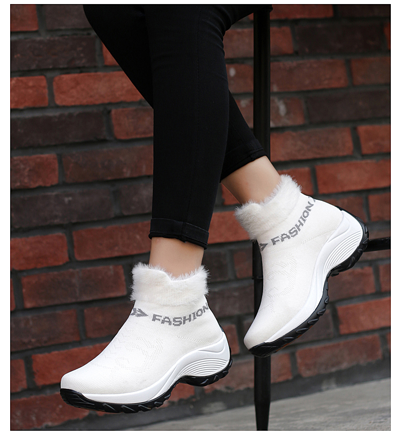 STS BRAND 2019 New Winter Ankle Boots Women Snow Boots Warm Plush Platform Sneakers Breathable Mesh Sneakers Travel Casual Shoes (12)