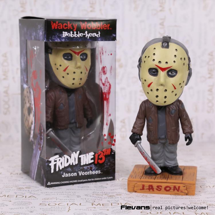 FUNKO Friday the 13th Jason Wacky Wobbler Bobble Head PVC Action Figure Collection Toy Doll 18cm
