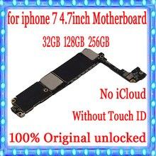 32G 128G 256G для iphone 7 материнская плата без сенсорного ID 100% оригинальная разблокированная для iphone 7 4,7 дюйма материнская плата с системой IOS