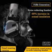 Tático fone de ouvido som captador redução ruído airsoft paintball tiro headset caça treinamento militar