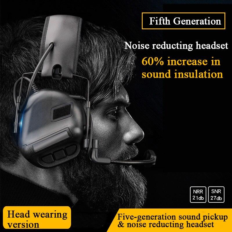 tatico fone de ouvido som captador reducao ruido airsoft paintball tiro headset caca treinamento militar