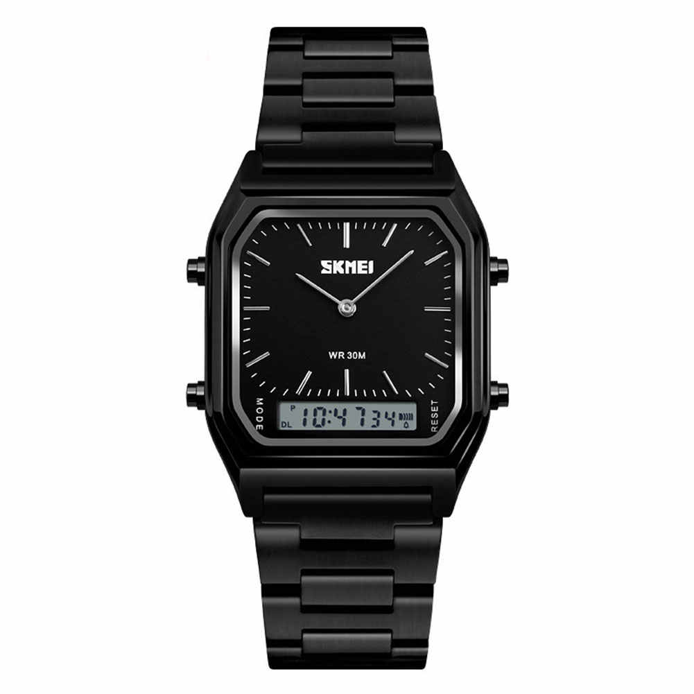 SKMEI 1220 винтажные Аналоговые кварцевые наручные часы с квадратным циферблатом, Мужские водонепроницаемые часы ручной работы с точным отображением времени
