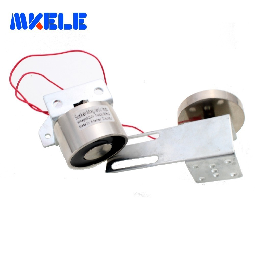 Serrure de porte magnétique DC12V/24 V pour portes automatiques tenant la Force 50 KG loquet de porte électromagnétique en vente MKElock002