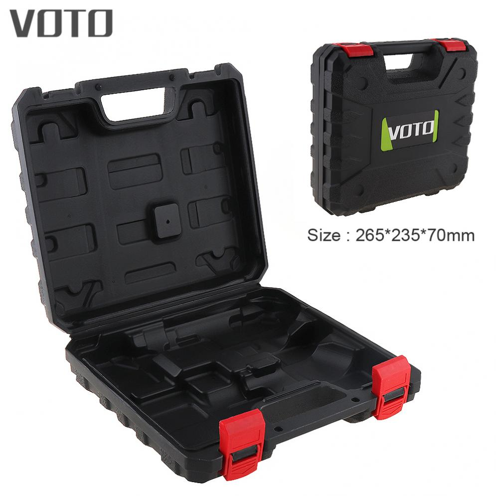 VOTO Power Tool Suitcase 12V Electric Drill Dedicated Load Tool Box with 235mm Width and 255mm Length for Electric Screwdriver