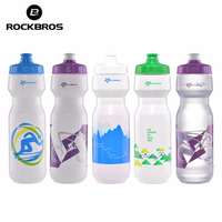 ROCKBROS Bicycle Water Bottle 750ML Portable Mountain Road Bike Water Bottle Cup Cycling Running Outdoor Sports